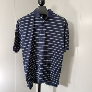 Brooks Brothers Golf Men's Navy Striped Polo Shirt